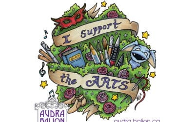 """Celebrating One Year as a Full-Time Artist with """"I Support the Arts"""" Design"""